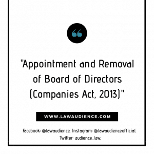 APPOINTMENT AND REMOVAL OF BOARD OF DIRECTORS