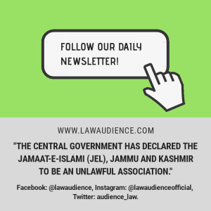 The Central Government Has Declared The Jamaat-E-Islami (Jei), Jammu and Kashmir To Be An Unlawful Association