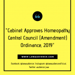 Cabinet Approves Homeopathy Central Council (Amendment) Ordinance, 2019