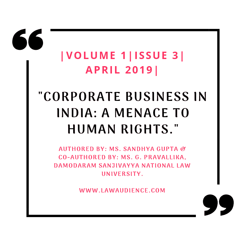 CORPORATE BUSINESS IN INDIA: A MENACE TO HUMAN RIGHTS »