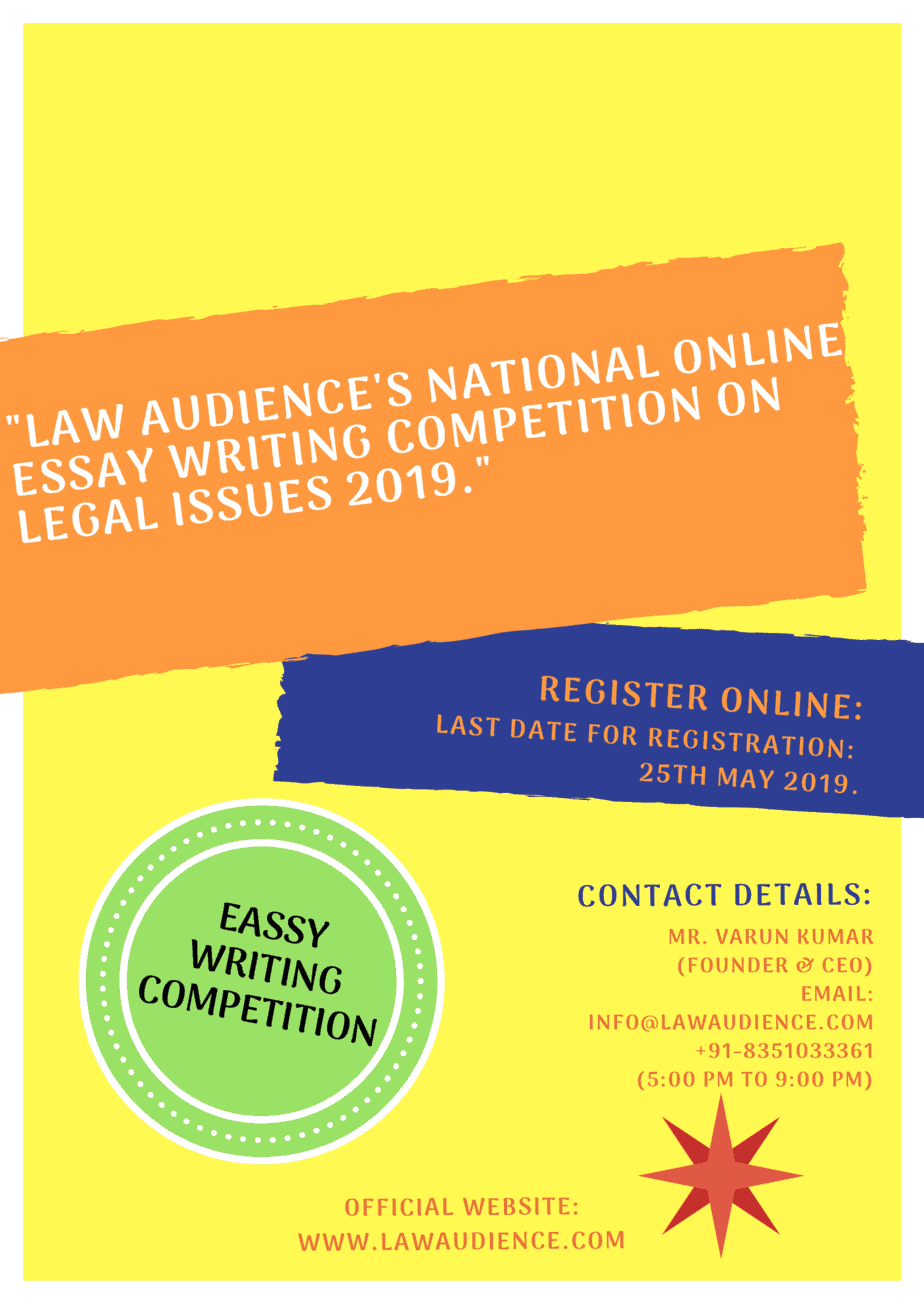 Law essay writing competition